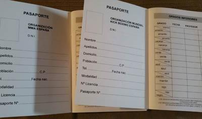 pasaporte deportivo interior